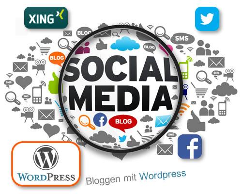 how to change social media links in wordpress