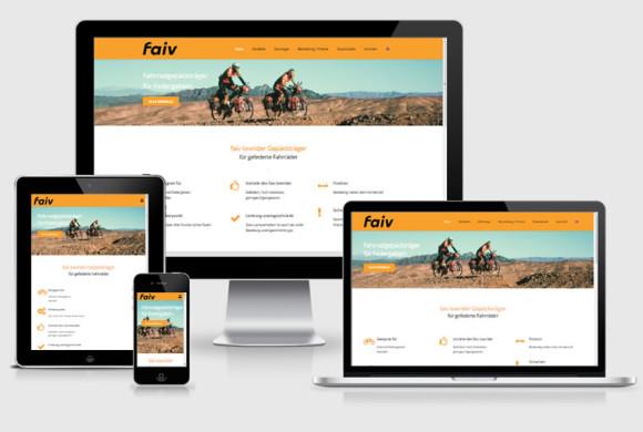 faiv, patentierte Fahrrad-Gepäckträger