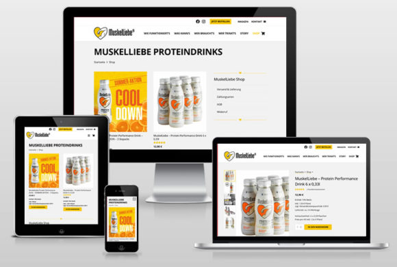 MuskelLiebe Proteindrink – Online-Shop